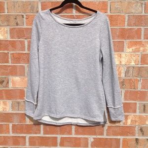 Tops - Women Top Popover Size Large Gray Boutique Thermal